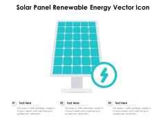 Solar Panel Renewable Energy Vector Icon Ppt PowerPoint Presentation File Grid PDF