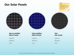 Solar Power Plant Technical Our Solar Panels Ppt Professional Graphics Pictures PDF