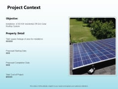 Solar Power Plant Technical Project Context Ppt Styles Summary PDF