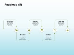 Solar Power Plant Technical Roadmap 5 Ppt Summary Grid PDF