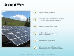 Solar Power Plant Technical Scope Of Work Ppt Infographics PDF