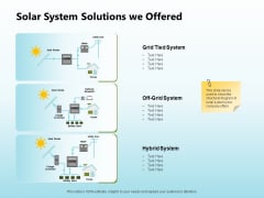 Solar Power Plant Technical Solar System Solutions We Offered Sample PDF