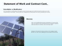 Solar Power Plant Technical Statement Of Work And Contract Cont Rules PDF