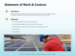 Solar Power Plant Technical Statement Of Work And Contract Diagrams PDF