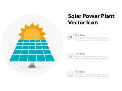 Solar Power Plant Vector Icon Ppt PowerPoint Presentation File Icon PDF