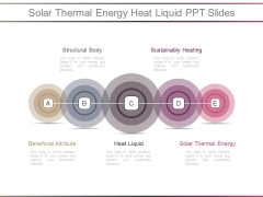 Solar Thermal Energy Heat Liquid Ppt Slides