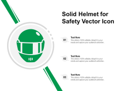 Solid Helmet For Safety Vector Icon Ppt PowerPoint Presentation Icon Professional PDF