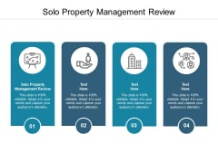 Solo Property Management Review Ppt PowerPoint Presentation Show Visual Aids Cpb