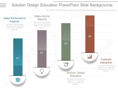 Solution Design Education Powerpoint Slide Backgrounds
