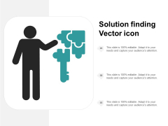 Solution Finding Vector Icon Ppt Powerpoint Presentation Gallery Clipart