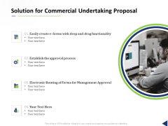 Solution For Commercial Undertaking Proposal Ppt Pictures Sample PDF