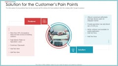 Solution For The Customers Pain Points Ppt Inspiration Background Images PDF