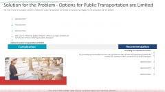 Solution For The Problem Options For Public Transportation Are Limited Designs PDF