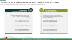 Solution For The Problem Options For Public Transportation Are Limited Ppt File Layouts PDF
