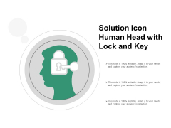 Solution Icon Human Head With Lock And Key Ppt PowerPoint Presentation Portfolio Vector