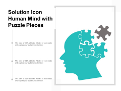 Solution Icon Human Mind With Puzzle Pieces Ppt PowerPoint Presentation Portfolio Skills