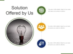 Solution Offered By Us Ppt PowerPoint Presentation File Deck