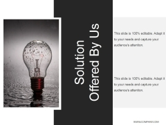 Solution Offered By Us Ppt PowerPoint Presentation Outline Information