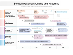 Solution Roadmap Auditing And Reporting Ppt PowerPoint Presentation Portfolio Styles PDF