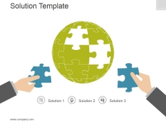 Solution Template Ppt PowerPoint Presentation Background Image