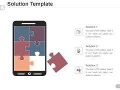 Solution Template Ppt PowerPoint Presentation Summary