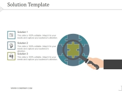 Solution Template Ppt PowerPoint Presentation Template