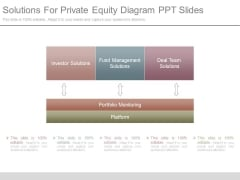 Solutions For Private Equity Diagram Ppt Slides