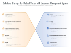 Solutions Offerings For Medical Sector With Document Management System Ppt PowerPoint Presentation Gallery Slide PDF