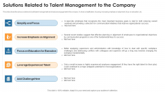 Solutions Related To Talent Management To The Company Microsoft PDF