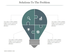 Solutions To The Problem Ppt PowerPoint Presentation Portfolio