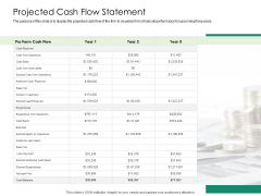 Solvency Action Plan For Private Organization Projected Cash Flow Statement Demonstration PDF