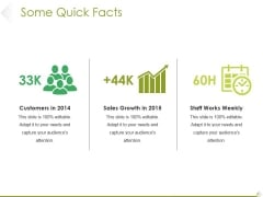 Some Quick Facts Ppt PowerPoint Presentation Professional Designs