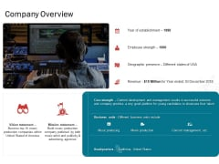 Sound Production Firm Agreement Proposal Company Overview Ppt Inspiration Master Slide PDF