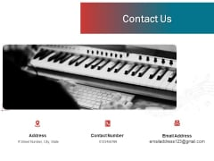 Sound Production Firm Agreement Proposal Contact Us Ppt Inspiration Graphics Tutorials PDF