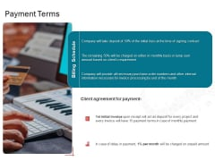 Sound Production Firm Agreement Proposal Payment Terms Ppt Infographic Template Good PDF