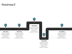 Sound Production Firm Agreement Proposal Roadmap Five Stages Ppt Gallery Elements PDF