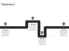 Sound Production Firm Agreement Proposal Roadmap Four Stages Ppt Infographic Template Styles PDF