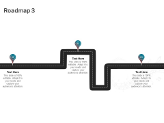 Sound Production Firm Agreement Proposal Roadmap Three Stages Ppt Inspiration Graphics Design PDF