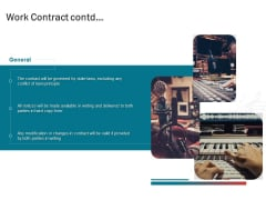 Sound Production Firm Agreement Proposal Work Contract Contd Ppt Outline Background Images PDF
