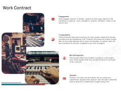 Sound Production Firm Agreement Proposal Work Contract Ppt Model Backgrounds PDF