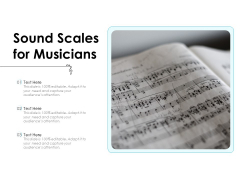 Sound Scales For Musicians Ppt PowerPoint Presentation Infographics Example File PDF