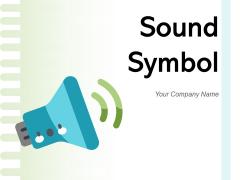 Sound Symbol Bell Creating Loudspeaker Behind Icon Ppt PowerPoint Presentation Complete Deck
