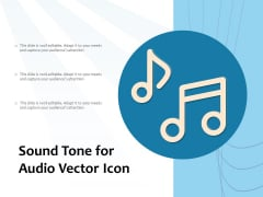 Sound Tone For Audio Vector Icon Ppt PowerPoint Presentation File Shapes PDF