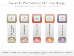 Source Of Price Variation Ppt Slide Design