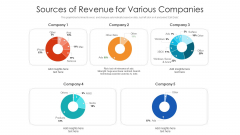 Sources Of Revenue For Various Companies Ppt Styles Outfit PDF