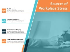 Sources Of Workplace Stress Ppt PowerPoint Presentation Ideas Deck