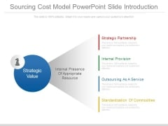 Sourcing Cost Model Powerpoint Slide Introduction