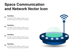 Space Communication And Network Vector Icon Ppt PowerPoint Presentation Gallery Clipart PDF