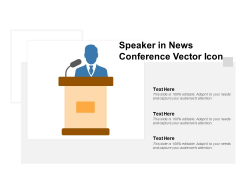 Speaker In News Conference Vector Icon Ppt PowerPoint Presentation Styles Portrait
