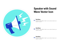 Speaker With Sound Wave Vector Icon Ppt PowerPoint Presentation Infographic Template Graphic Images